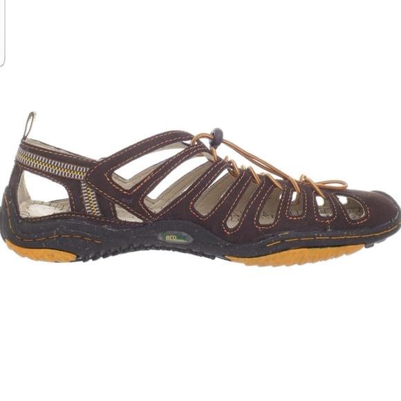 Jambu Bath Barefoot Brown Hiking Sandal Sz 9
